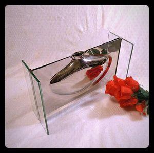 Badash Steel & Glass Vase